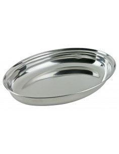 Deep steel oval dish - Kinghoff : KH-1384