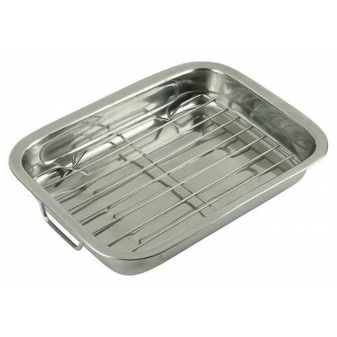 Baking tray with handles and grill - Kinghoff : KH-1376