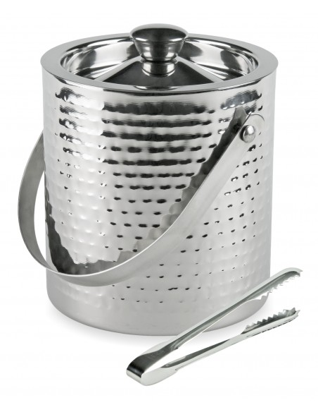 Hammered double wall ice bucket - Kinghoff : KH-1503