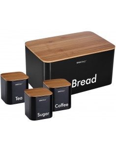 Bread box with canister set