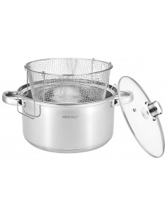 Casserole with frying basket