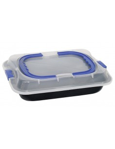 Baking tray with lid